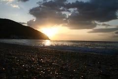 Lever de soleil sur Gargano Images libres de droits