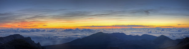 Lever de soleil sur Haleakala Photos libres de droits