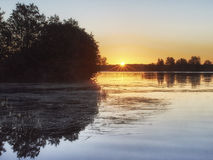 Lever de soleil sur l'île d'Eglov Photos stock