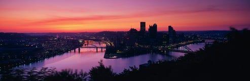 Lever de soleil sur l'Allegheny Photographie stock libre de droits