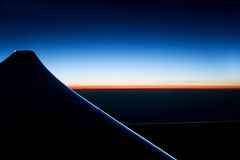 Lever de soleil sur l'horizon Image stock