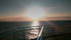 Lever de soleil sur l'océan Photographie stock libre de droits