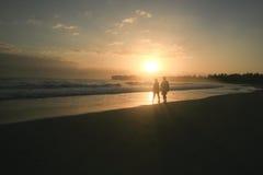 Lever de soleil sur la baie de Cabarete, DR Images stock