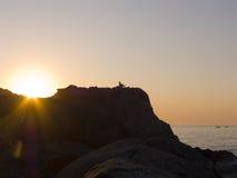 Lever de soleil sur la mer. Photos libres de droits