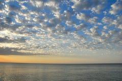 Lever de soleil sur la mer Image libre de droits