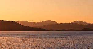 Lever de soleil sur la mer Photographie stock