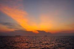 Lever de soleil sur la mer Photo libre de droits