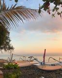 Lever de soleil sur la mer de Balinese photographie stock libre de droits