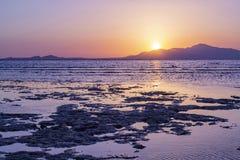 Lever de soleil sur la Mer Rouge Égypte Beau paysage marin tropical photos libres de droits