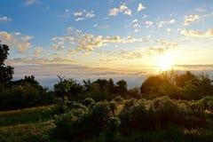 Lever de soleil sur la montagne Images stock