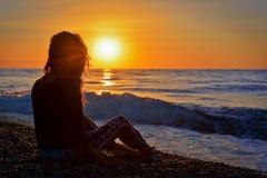 Lever de soleil sur la plage Photographie stock libre de droits