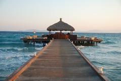 Lever de soleil sur la plage Images libres de droits