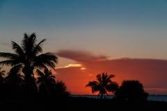 Lever de soleil sur la plage Photographie stock