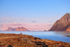 Lever de soleil sur le bord de mer Photographie stock libre de droits