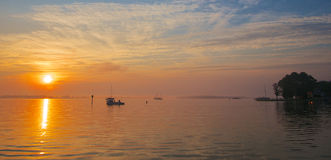 Lever de soleil sur le compartiment de chesapeake Photos stock