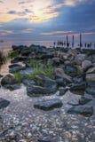 Lever de soleil sur le compartiment de Delaware image libre de droits