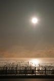 Lever de soleil sur le compartiment de Tawas Image stock