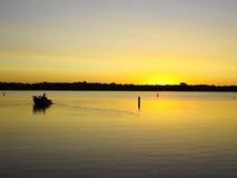 Lever de soleil sur le lac bear blanc, manganèse Photographie stock libre de droits