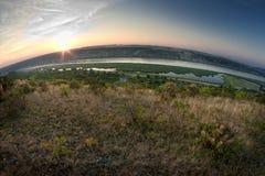 Lever de soleil sur la rivière Image stock