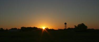 Lever de soleil sur le Rez image stock