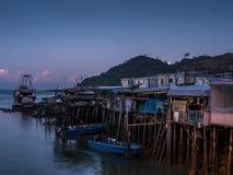 Lever de soleil sur le village de pêche de Tai O - 1 Images stock