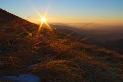 Lever de soleil sur les Alpes italiens Photo libre de droits