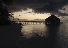 Lever de soleil sur les Maldives Image stock