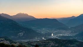Lever de soleil sur les montagnes Images stock