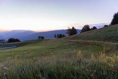 Lever de soleil sur les montagnes Photographie stock