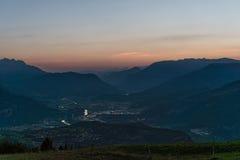 Lever de soleil sur les montagnes Image stock
