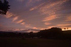 Lever de soleil sur Maria Island Photographie stock libre de droits