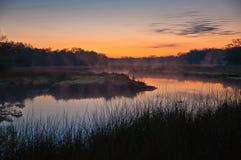 Lever de soleil sur Mason Creek, Homosassa, la Floride Photos libres de droits
