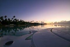 Lever de soleil sur Moorea Photographie stock