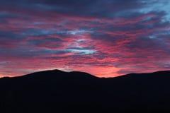 Lever de soleil sur Ridge Parkway bleu, Great Smoky Mountains Photo libre de droits