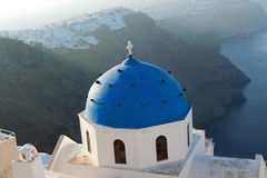 Lever de soleil sur Santorini Images stock