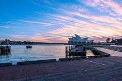 Lever de soleil sur Sydney Opera House Sydney Australia Photo stock