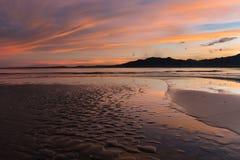 Lever de soleil sur Vita Levu Island, Fidji Photographie stock