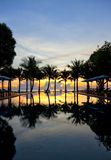 Lever de soleil tropical Images stock