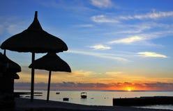 Lever de soleil tropical Images libres de droits