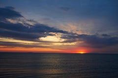 Lever de soleil un d'Alakol photographie stock libre de droits