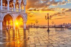 lever de soleil Venise Image libre de droits
