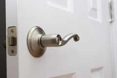 Lever door handle. With child safety lock Royalty Free Stock Image