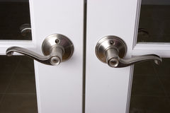Lever door handles Stock Photos