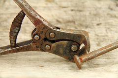 Lever in front cutting pliers Stock Photo