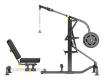 Lever gym machine isolated on white Royalty Free Stock Photos