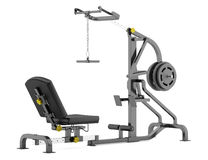 Lever gym machine  on white Royalty Free Stock Image