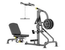 Lever gym machine  on white Royalty Free Stock Photos