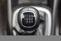 Lever manual six-speed gearbox Stock Photo