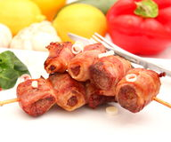 Lever med bacon Arkivbild