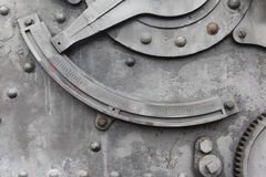 Lever on old machine Stock Image